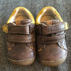Clark's leather brown Toddler shoes size 3F
